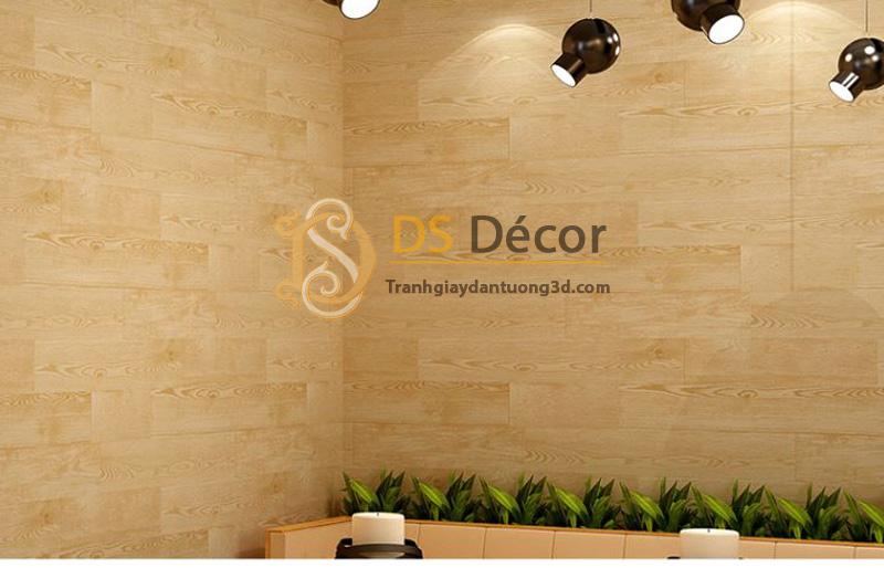 Chọn giấy dán tường văn phòng giả vân gỗ 3D021