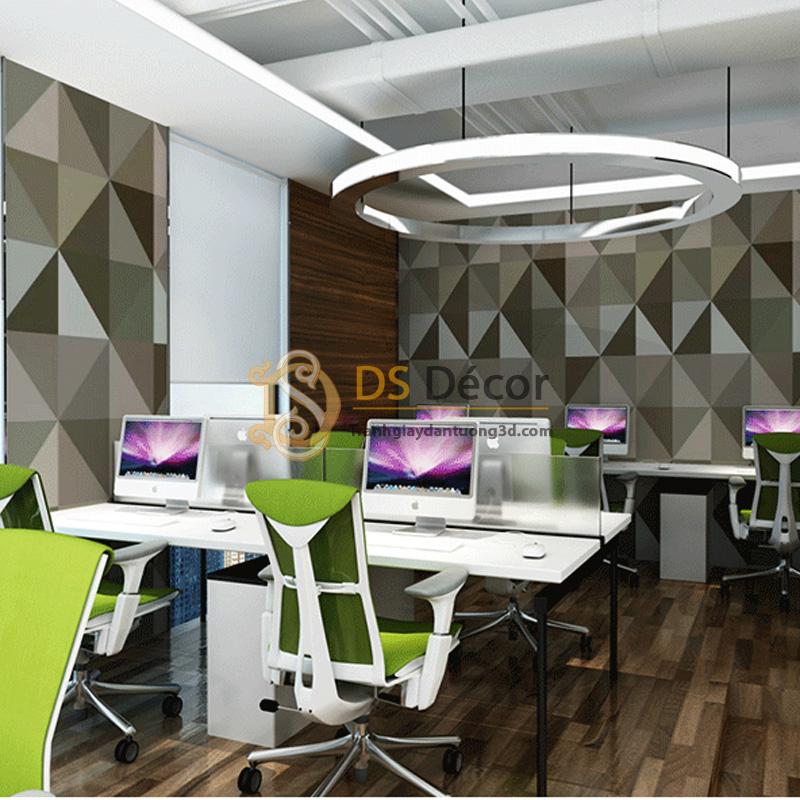 Giấy Dán Tường 3D – Họa Tiết Hình Học 3 Chiều Hiện Đại 3D004