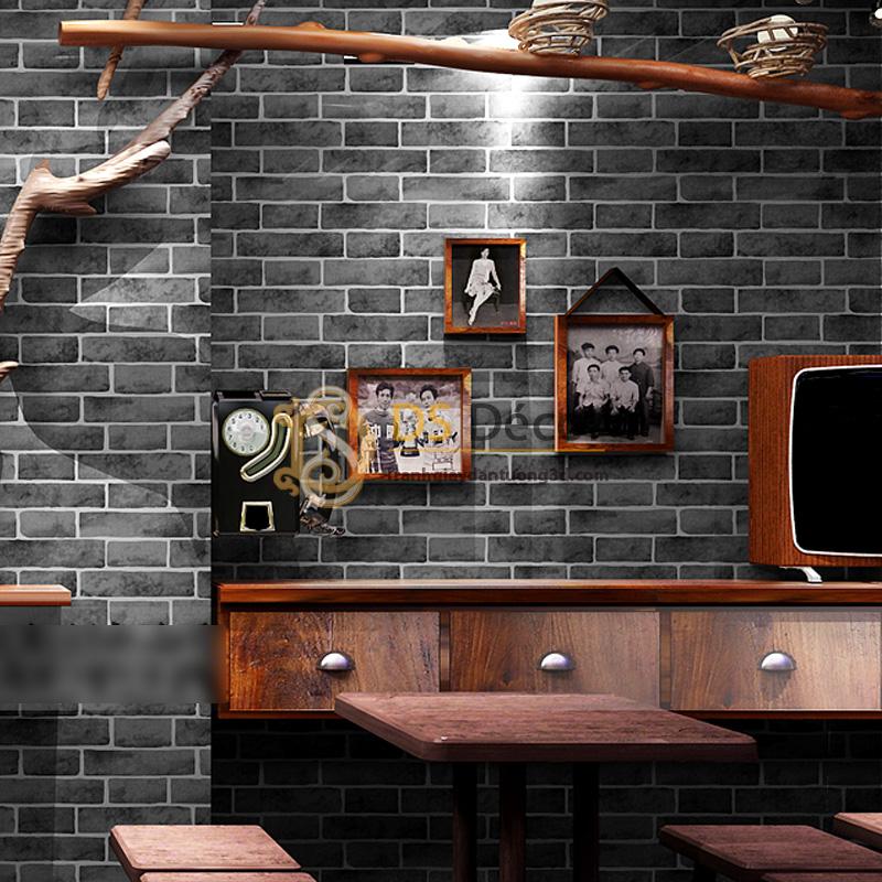 Giấy Dán Tường 3D – Họa Tiết Giả Gạch 3D006 trang trí quán cà phê