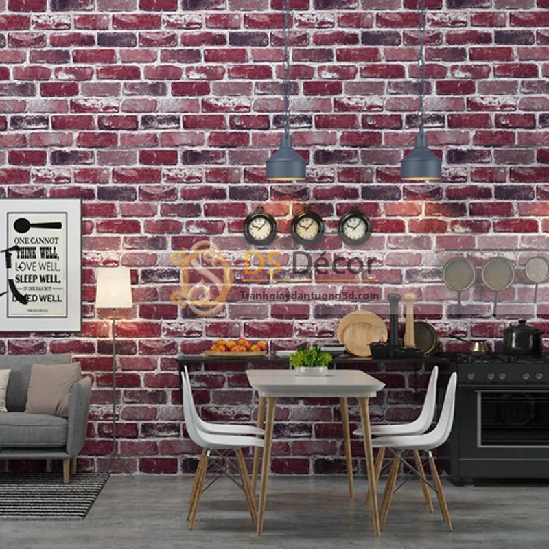 Giấy Dán Tường 3D – Họa Tiết Giả Gạch 3D006