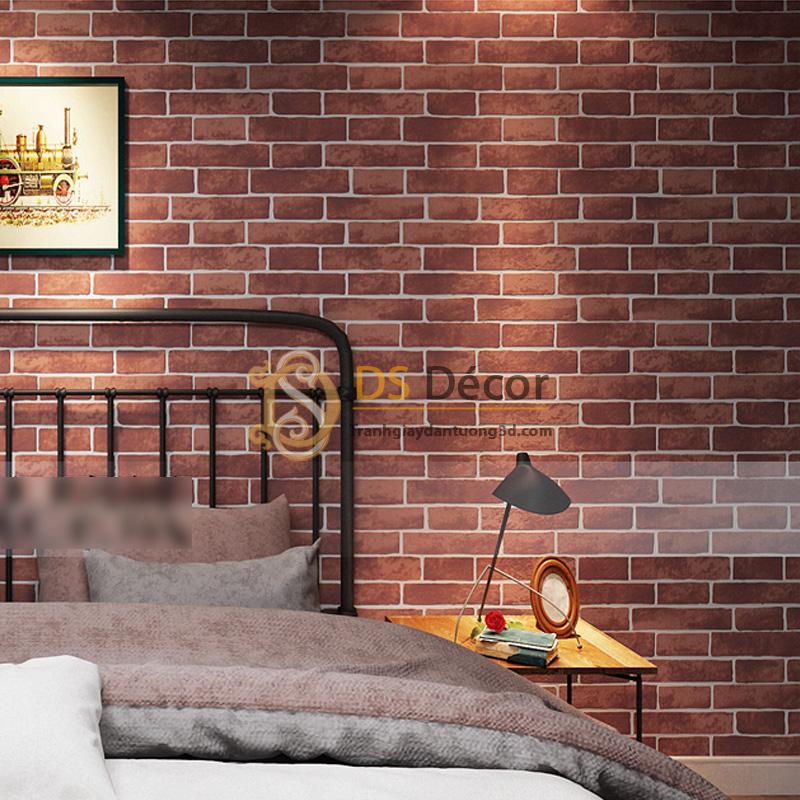 Giấy Dán Tường 3D – Họa Tiết Giả Gạch 3D006 màu nâu