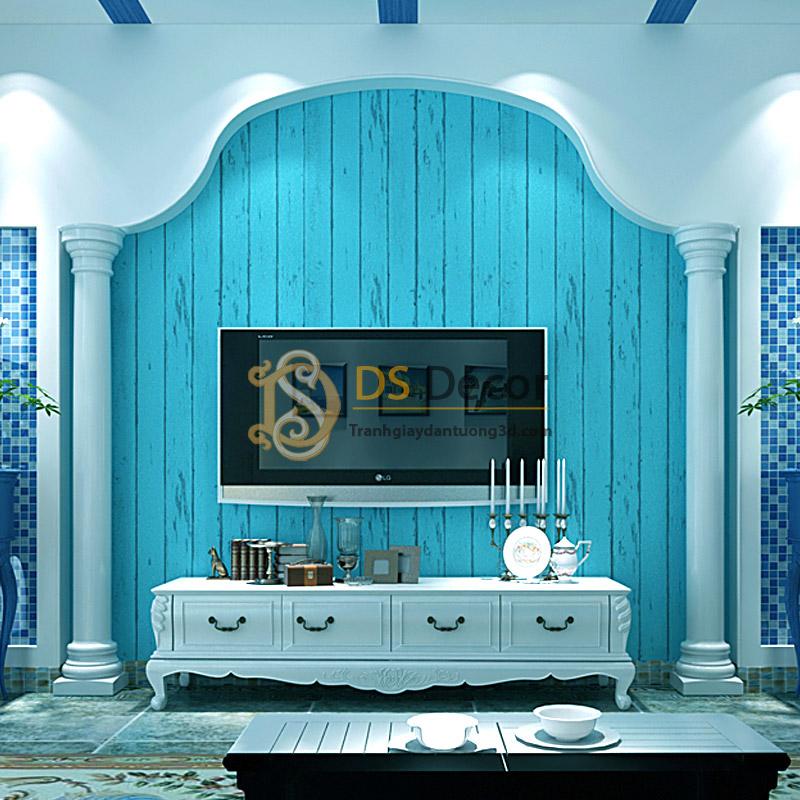 giấy-dán-tường-giả-ván-gỗ-xanh-nước-biển-3D065-01