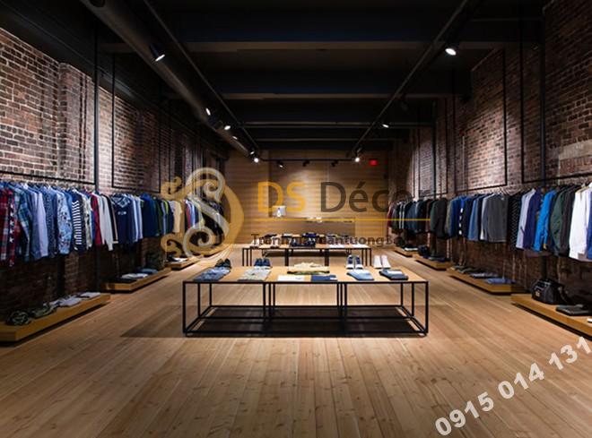 Giấy Dán Tường 3D Họa Tiết Giả Gạch 3D006 trang trí shop quần áo