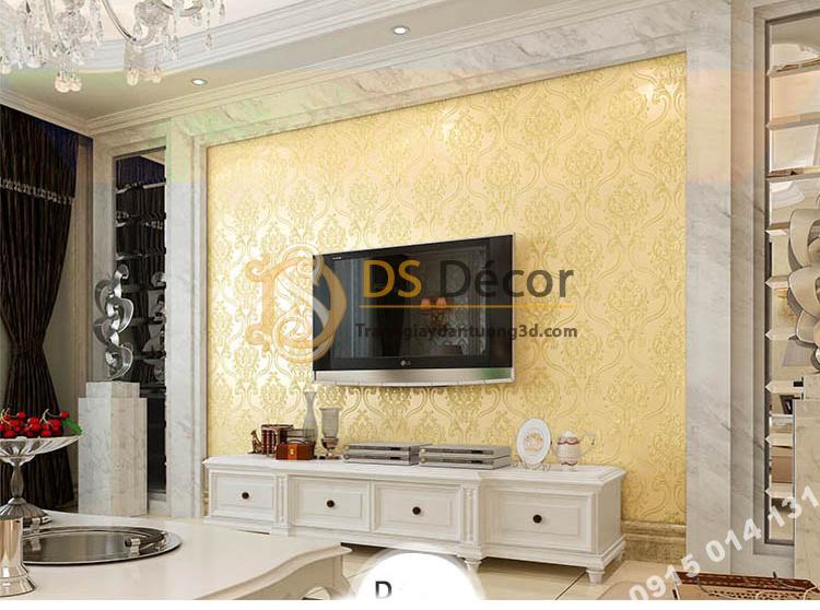 Giấy dán tường họa tiết tân cổ điển 3D148 - màu D