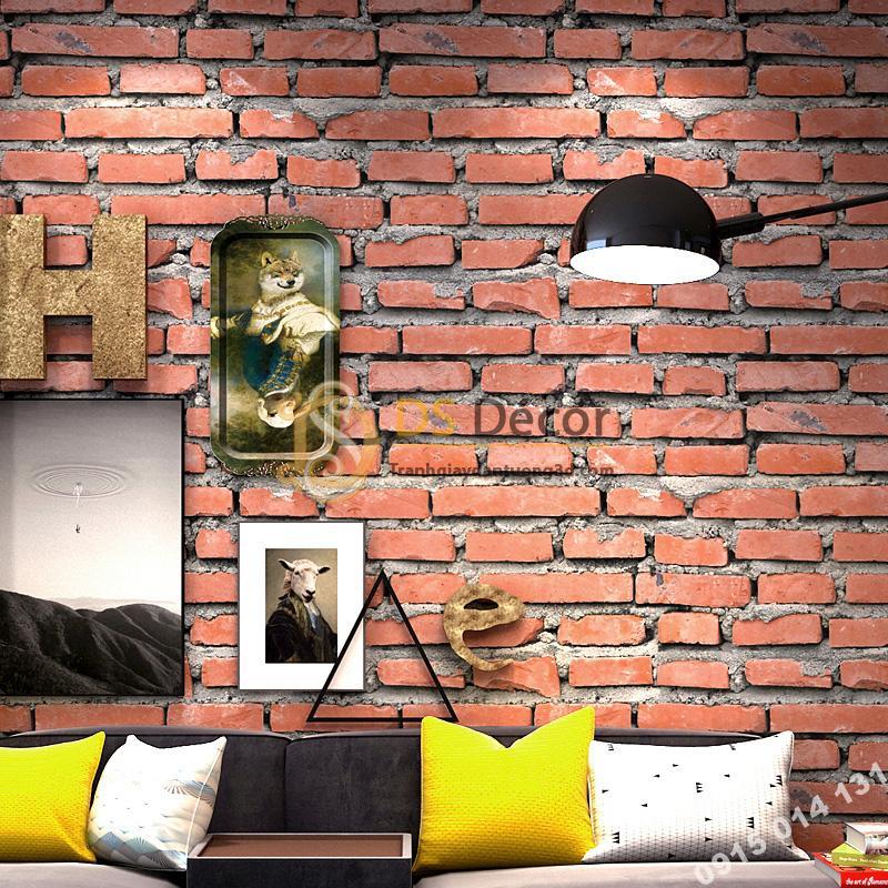 Giấy dán tường giả gạch đỏ 3D188