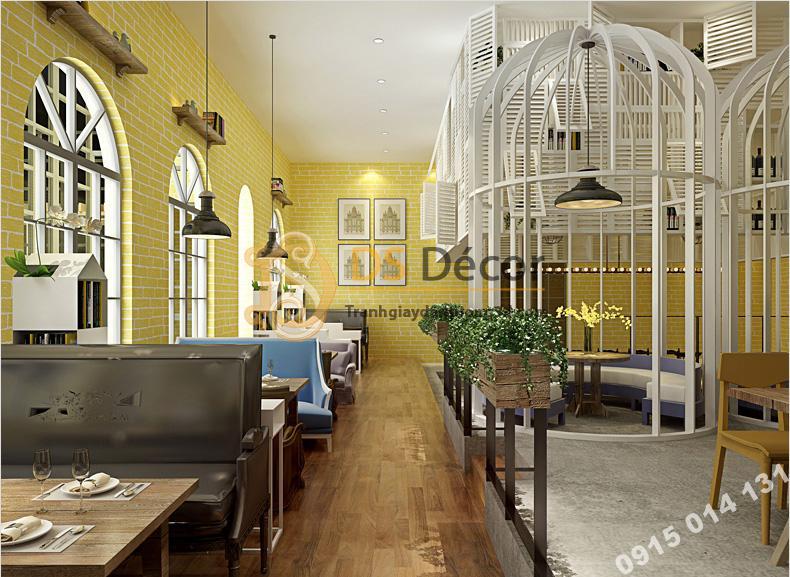 Giay-dan-tuong-gia-gach-vang-trang-tri-quan-coffee-3D140