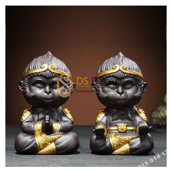Đồ Gốm Trang Trí Tượng Đại Thánh Ngồi Thiền DTT01