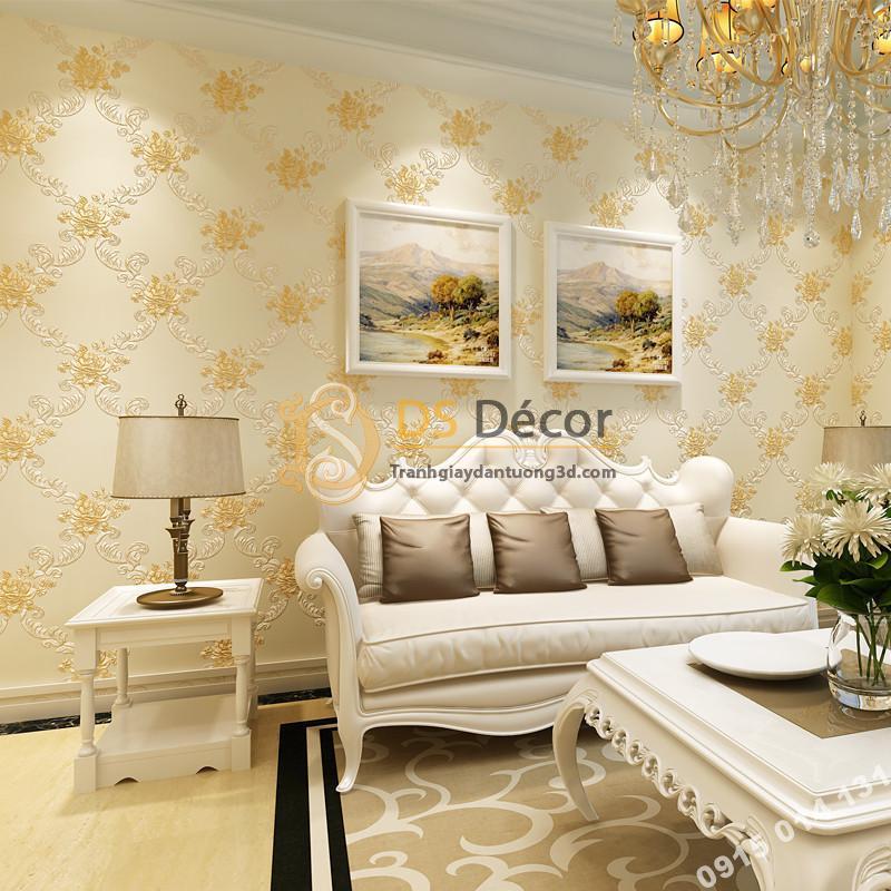 Giấy dán tường phòng khác countryside 3D149 màu be