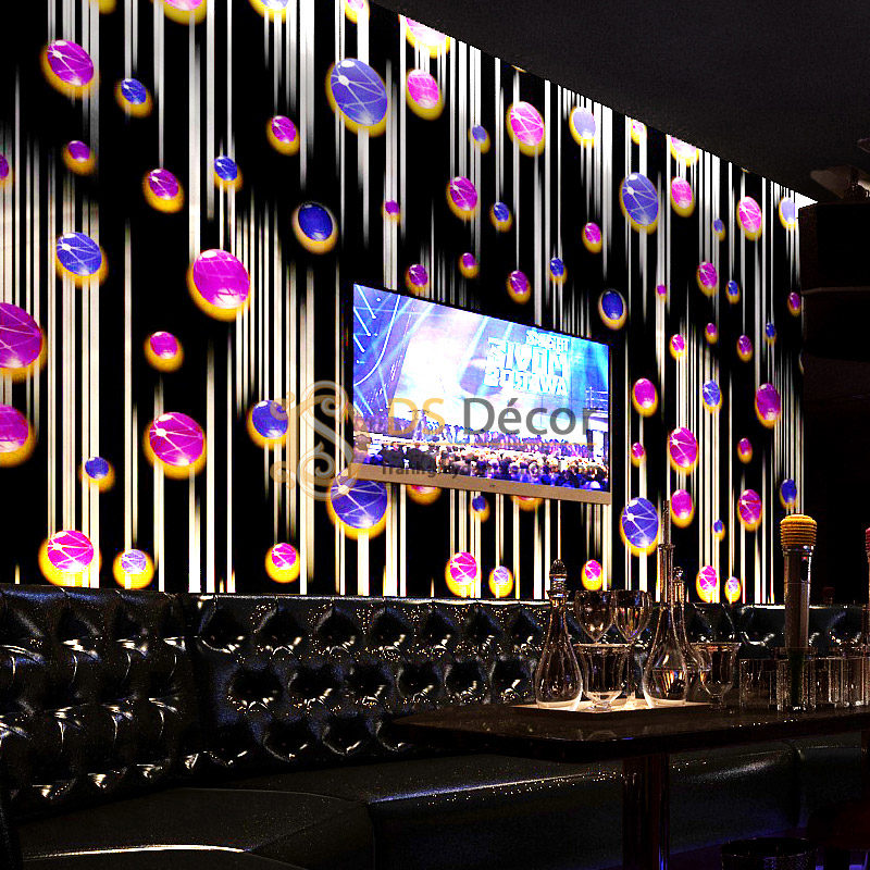 Giấy Dán Tường Phòng Hát Karaoke Họa Tiết Ngọc Rơi 3D051