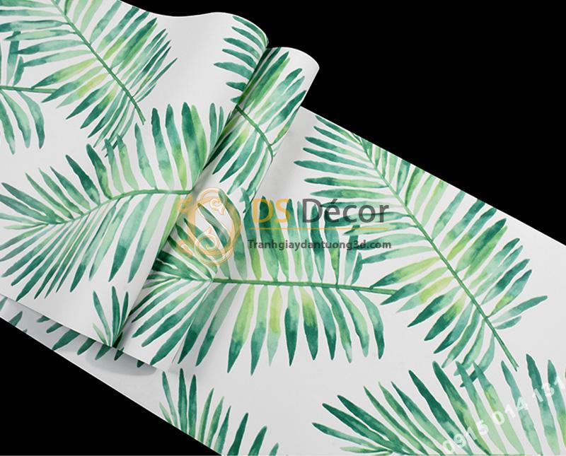 Bề mặt Giấy dán tường lá vạn tuế xanh 3D209