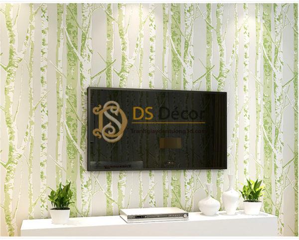 Giấy Dán Tường 3D Họa Tiết Thân Cây - 3D033