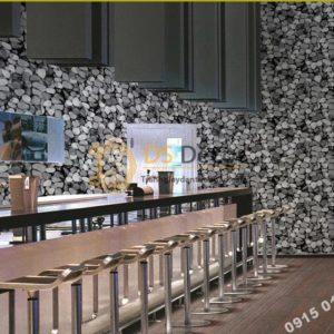 Giấy Dán Tường Giả Đá Sỏi Độc Đáo 3D153