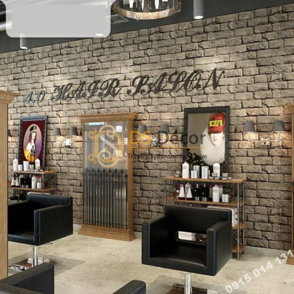Giấy Dán Tường Giả Gạch Cho Salon Tóc 3D094