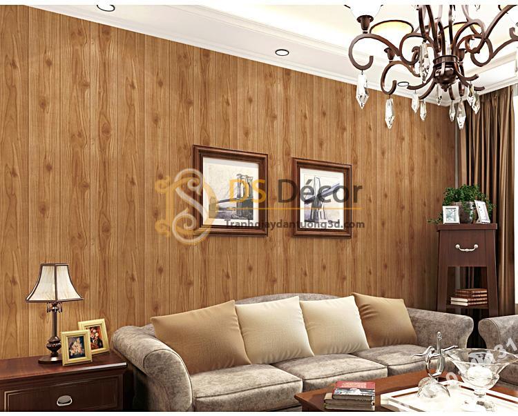 Giấy dán tường vân gỗ 3D190 trang trí phòng khách