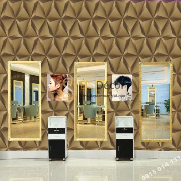 Giấy Dán Tường Hình Học Tam Giác 3D Cho Nhà Hàng Quán Bar 3D128