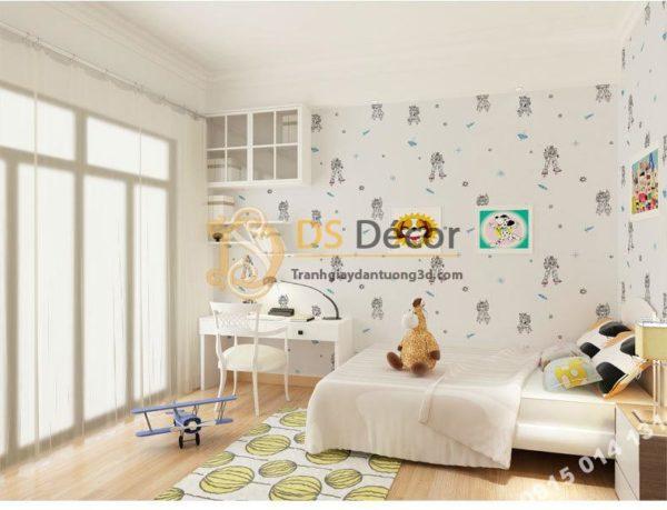 Giấy Dán Tường Họa Tiết Robot 3D142 Phòng Ngủ Bé Trai