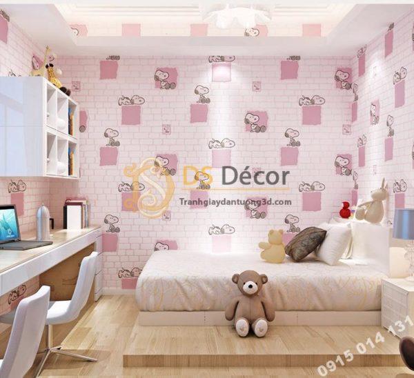 Giấy Dán Tường Phòng Trẻ Em Họa Tiết Cho Snoopy 3D132
