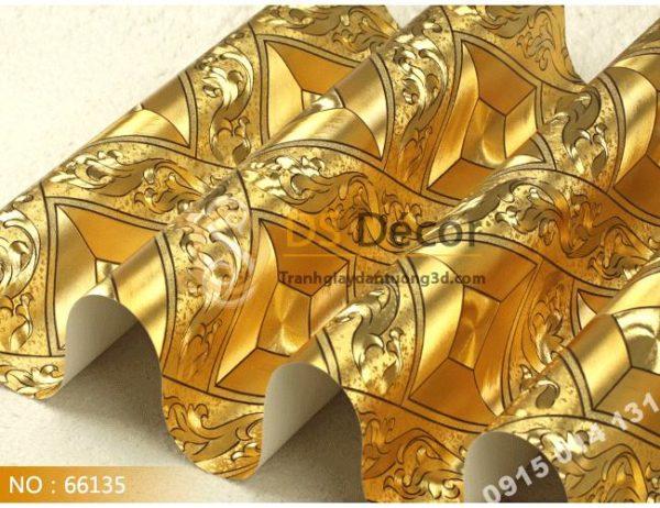 Giấy Dán Tường Vàng Bạc Cho Quán Bar Lối Trần 3D113