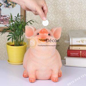 Lợn Tiết Kiệm Tiền Màu Hồng Cười Đáng Yêu