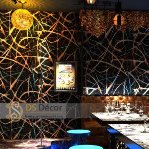 Giấy Dán Tường Phòng Karaoke Họa Tiết Vệt Sáng 3D050