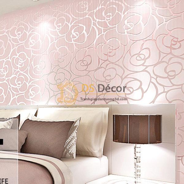 Giấy Dán Tường 3D Họa Tiết Hoa Hồng 3D013