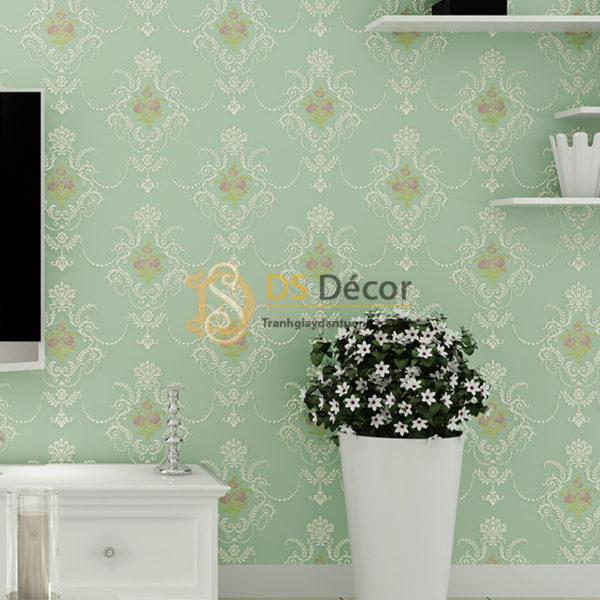 Giấy Dán Tường 3D Họa Tiết Hoa Lá Cách Điệu Dập Nổi - 3D020