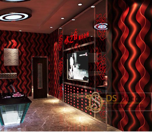 Giấy Dán Tường Quán Bar Karaoke Lượn Sóng 3D081