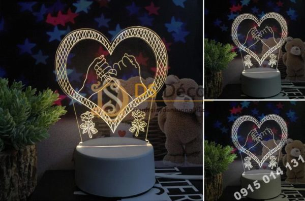 Đèn Led Trang Trí 3D Quà Tặng Sinh Nhật Độc Đáo DTT11