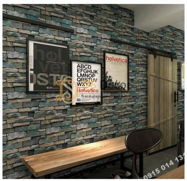 Giấy Dán Tường Giả Đá Retro Cho Nhà Hàng Khách Sạn 3D164