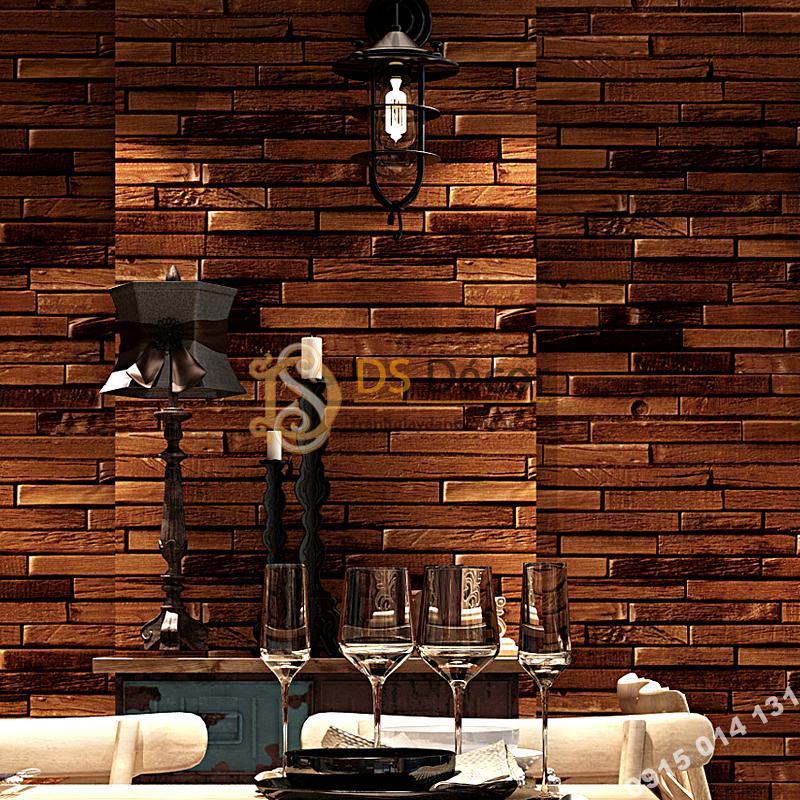 Giấy Dán Tường Giả Gạch Nâu Độc Đáo 3D230