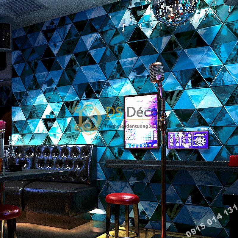 Giấy Dán Tường Giả Kính Thủy Tinh Phòng Hát Karaoke 3D233