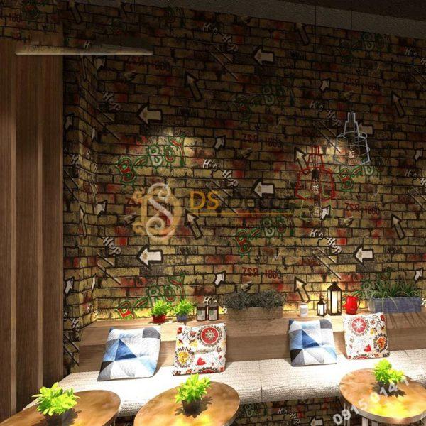 Giấy Dán Tường Kiểu Graffiti Hip Hop Cho Tiệm Net, Quán Cafe 3D168
