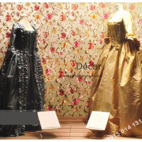 Giấy Dán Tường Hoa Ánh Kim Cho Tiệm Váy Cưới 3D203