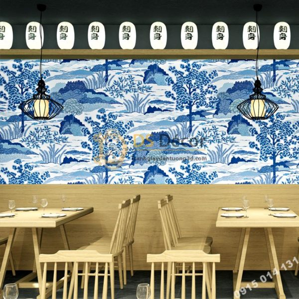 Giấy Dán Tường Phong Cách Nhật Bản Ramen Sushi Restaurant 3D245