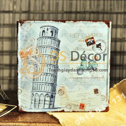 Tranh Sắt Treo Tường Phong Cách Vintage Hoài Cổ DC05