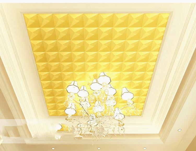 Giấy-dán-trần-tường-3D-kim-tự-tháp-3D200-màu-vang