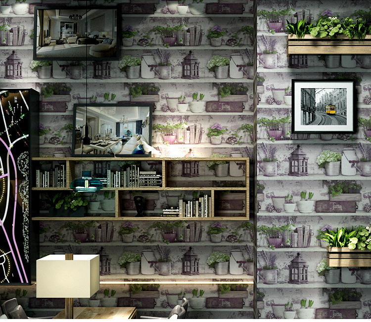 Giay-dan-tuong-hoa-tiet-chau-hoa-doc-dao-3D205-trang-trí-quán-tra-sua