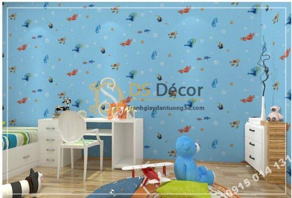 Giấy Dán Tường Cá Biển Phòng Trẻ Em 3D269