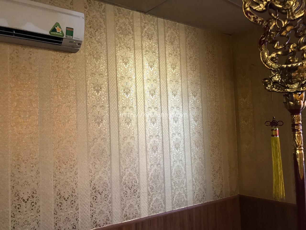 Thi công giấy dán tường phòng thờ tại Hà Nội