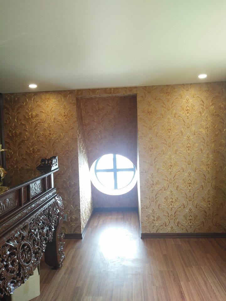 Công trình thi công giấy dán tường phòng thờ tại Sài Gòn