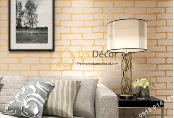 Giấy Dán Tường Giả Gạch Vàng Độc Nhất Vô Nhị 3D140