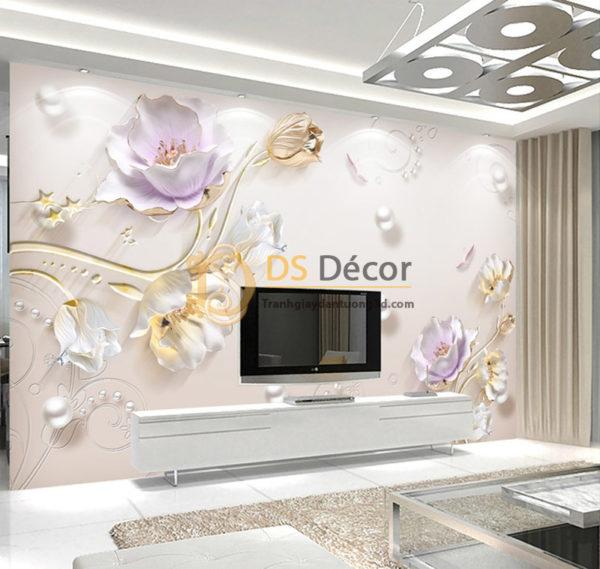 Tranh Dán Tường Hoa Giả Ngọc 5D - 5D001