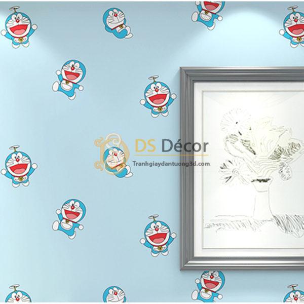 Giấy Dán Tường 3D Họa Tiết Doremon 3D008