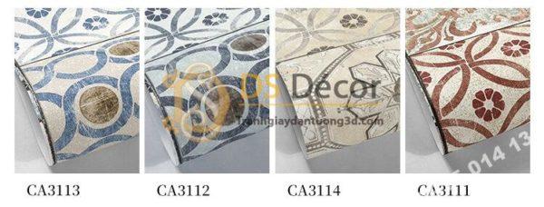 Giấy dán tường giả gạch bông 3D303