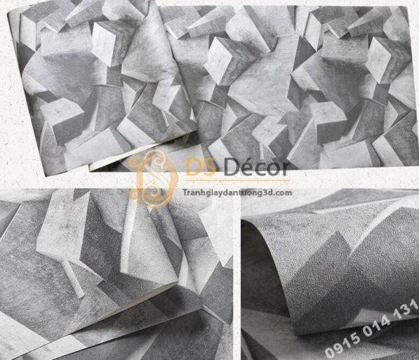 Giấy dán tường họa tiết khối đá 3 chiều 3D306