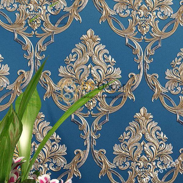Giấy dán tường hoa châu âu sang trọng 3D288