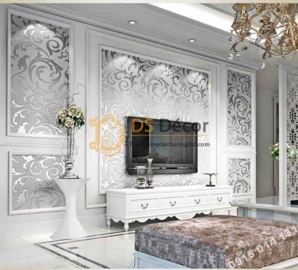 Giấy dán tường hoa móc cổ điển 3D299
