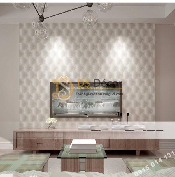 Giấy dán tường kiểu bọc da sofa Chesterfield 3D284
