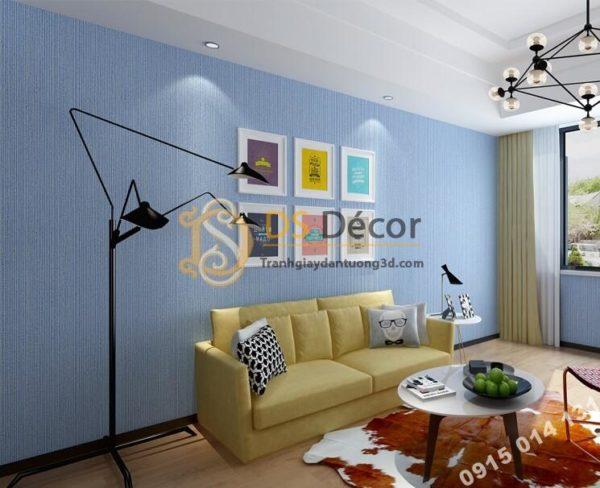 👍 Giấy dán tường một màu giả vải 3D281