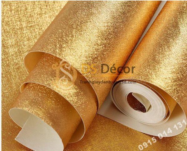 Giấy dán trần vàng óng sang trọng 3D298